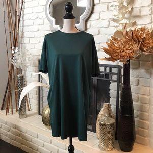 ZARA t shirt style dress in emerald green!